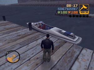 gta lcs how to get boat at beging