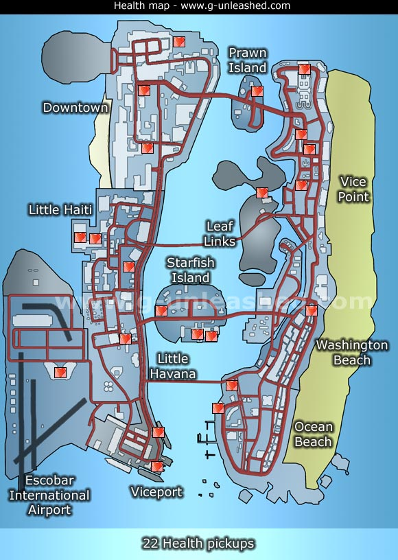 Vice City Map Properties Health Map GTA: Vice C...