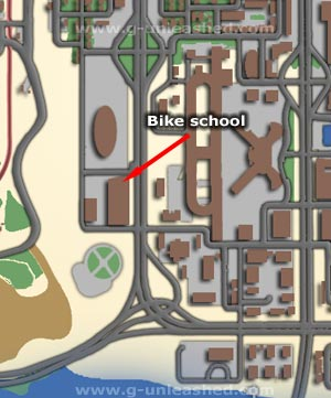 Bike School map