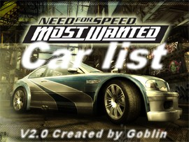 Car List Nfs Most Wanted